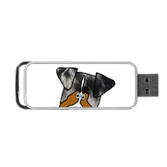 Blue Merle Peeking Aussie Portable USB Flash (One Side)