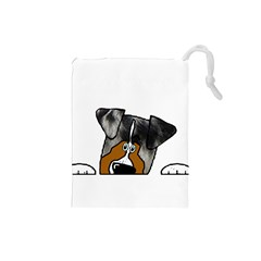 Blue Merle Peeking Aussie Drawstring Pouches (Small)