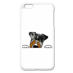 Blue Merle Peeking Aussie Apple iPhone 6 Plus/6S Plus Enamel White Case