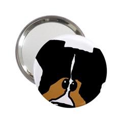 Black Tri Peeping Aussie Dog 2.25  Handbag Mirrors