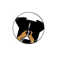 Black Tri Peeping Aussie Dog Hat Clip Ball Marker (4 pack)