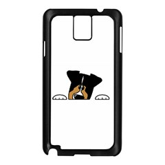 Black Tri Peeping Aussie Dog Samsung Galaxy Note 3 N9005 Case (Black)