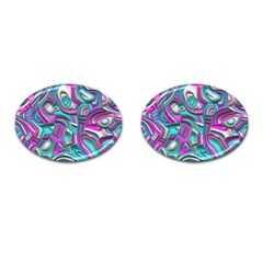 Art Deco Candy Cufflinks (Oval)