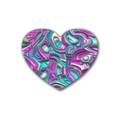 Art Deco Candy Heart Coaster (4 pack)