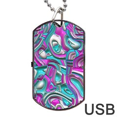 Art Deco Candy Dog Tag USB Flash (One Side)