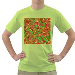 Art Deco Red Green Green T-Shirt