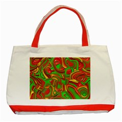 Art Deco Red Green Classic Tote Bag (Red)