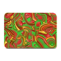 Art Deco Red Green Plate Mats