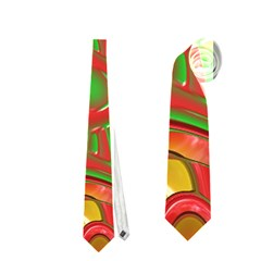 Art Deco Red Green Neckties (One Side)