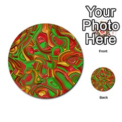 Art Deco Red Green Multi-purpose Cards (Round)