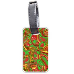 Art Deco Red Green Luggage Tags (Two Sides)