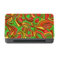 Art Deco Red Green Memory Card Reader with CF