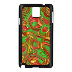 Art Deco Red Green Samsung Galaxy Note 3 N9005 Case (Black)
