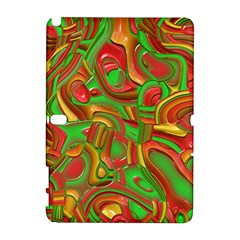 Art Deco Red Green Samsung Galaxy Note 10.1 (P600) Hardshell Case