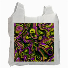 Art Deco Yellow Green Recycle Bag (Two Side)