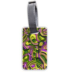 Art Deco Yellow Green Luggage Tags (Two Sides)