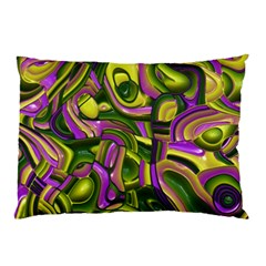 Art Deco Yellow Green Pillow Cases (two Sides)