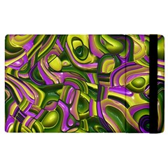 Art Deco Yellow Green Apple iPad 2 Flip Case