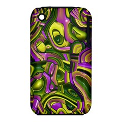 Art Deco Yellow Green Apple iPhone 3G/3GS Hardshell Case (PC+Silicone)