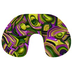 Art Deco Yellow Green Travel Neck Pillows