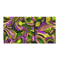 Art Deco Yellow Green Satin Wrap
