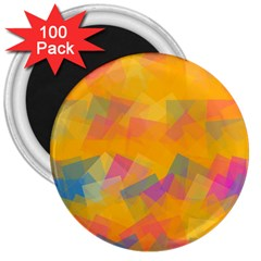 Fading squares 3  Magnet (100 pack)