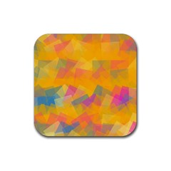 Fading squares Rubber Square Coaster (4 pack)