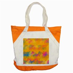 Fading Squares Accent Tote Bag