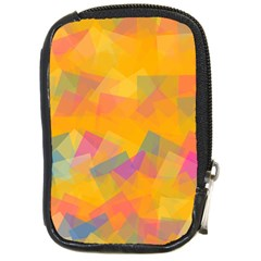 Fading squares Compact Camera Leather Case