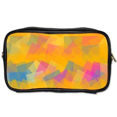 Fading Squares Toiletries Bag (one Side)