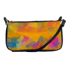 Fading squares Shoulder Clutch Bag