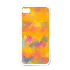 Fading squares Apple iPhone 4 Case (White)