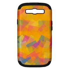 Fading squares Samsung Galaxy S III Hardshell Case (PC+Silicone)