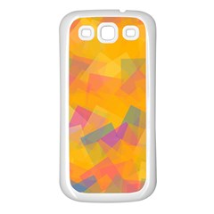 Fading squares Samsung Galaxy S3 Back Case (White)
