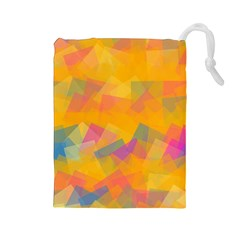 Fading Squares Drawstring Pouch