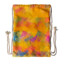 Fading squares Large Drawstring Bag