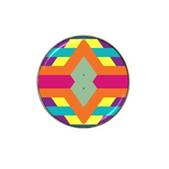 Colorful rhombus and stripes Hat Clip Ball Marker (10 pack)