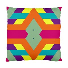 Colorful rhombus and stripes Standard Cushion Case (Two Sides)
