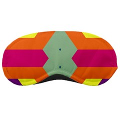 Colorful rhombus and stripes Sleeping Mask