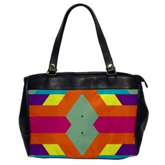 Colorful rhombus and stripes Oversize Office Handbag