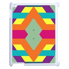 Colorful rhombus and stripes Apple iPad 2 Case (White)