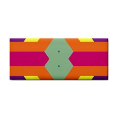 Colorful Rhombus And Stripes Hand Towel