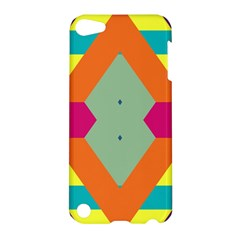 Colorful rhombus and stripes Apple iPod Touch 5 Hardshell Case