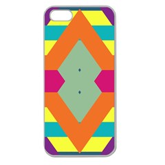 Colorful rhombus and stripes Apple Seamless iPhone 5 Case (Clear)