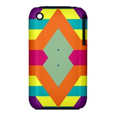 Colorful rhombus and stripes Apple iPhone 3G/3GS Hardshell Case (PC+Silicone)