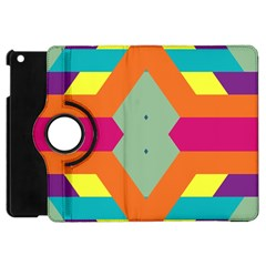 Colorful rhombus and stripes Apple iPad Mini Flip 360 Case