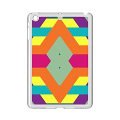 Colorful rhombus and stripes Apple iPad Mini 2 Case (White)