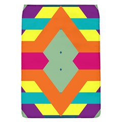 Colorful rhombus and stripes Removable Flap Cover (L)