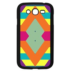 Colorful rhombus and stripes Samsung Galaxy Grand DUOS I9082 Case (Black)
