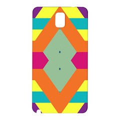 Colorful rhombus and stripes Samsung Galaxy Note 3 N9005 Hardshell Back Case